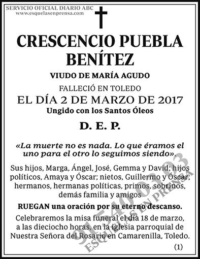 Crescencio Puebla Benítez